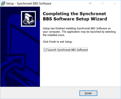 Synchronet for Windows install completed