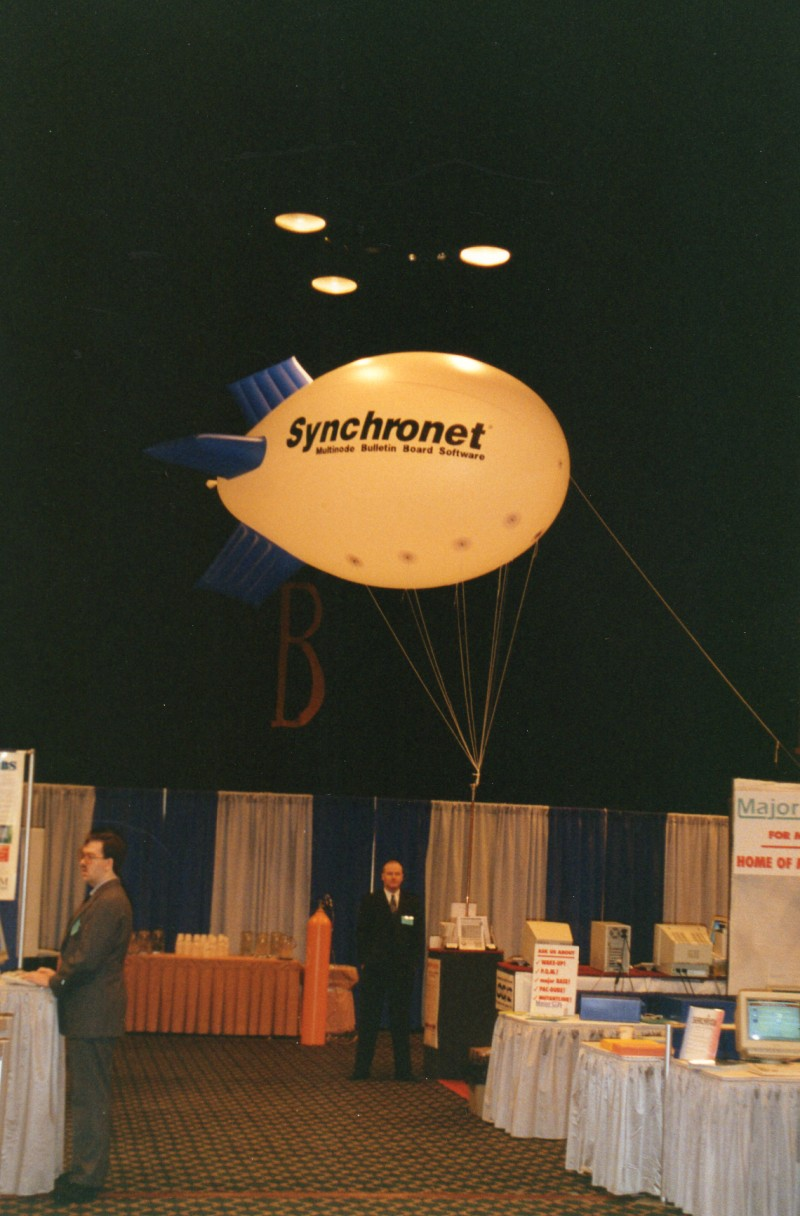 Mike and his blimp at ONE BBSCON 1993