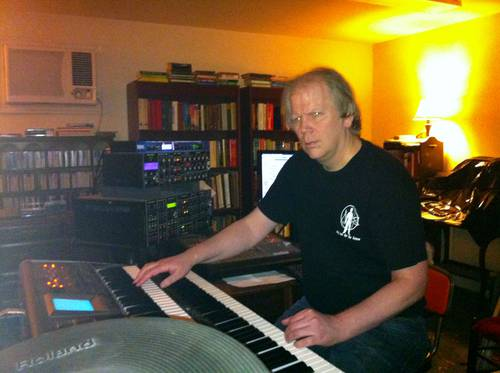 Steve in his music studio in Fresno, 2011